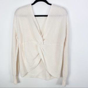 LOFT Sweaters - Loft Knit Tie Back Sweater White Size Medium